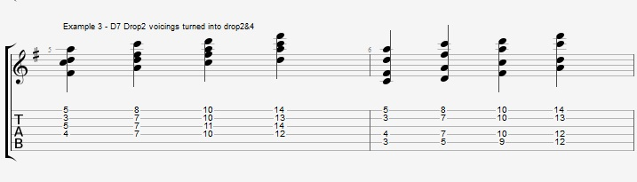Drop2&4 voicings - Part 1 - ex 3