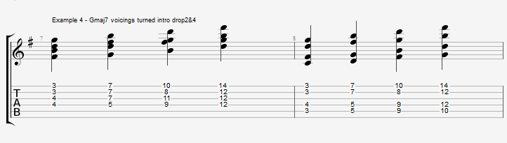 Drop2&4 voicings - Part 1 - ex 4