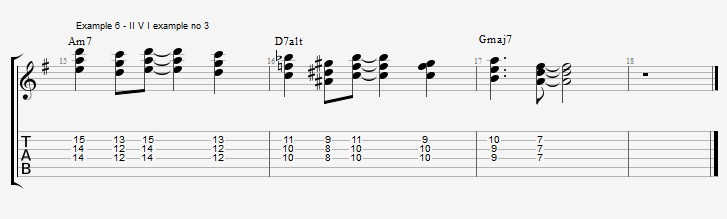 Using the pentatonic scale as chords - ex 6