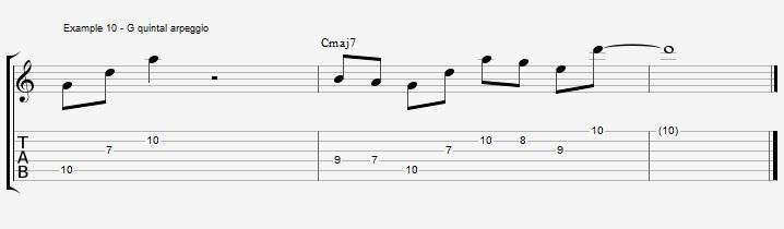 10 arpeggios over a Maj7 chord 1 - ex 10