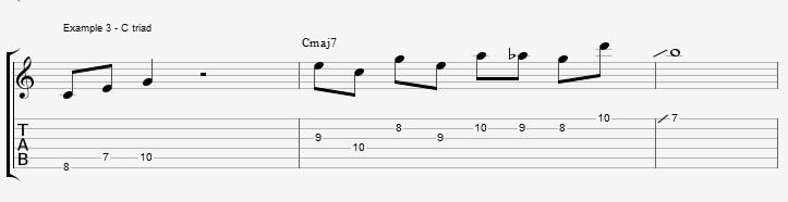 10 arpeggios over a Maj7 chord 1 - ex 3