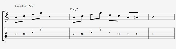 10 arpeggios over a Maj7 chord 1 - ex 5