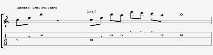 10 arpeggios over a Maj7 chord 1 - ex 6