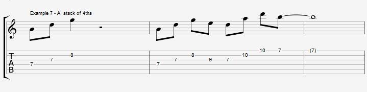 10 arpeggios over a Maj7 chord 1 - ex 7