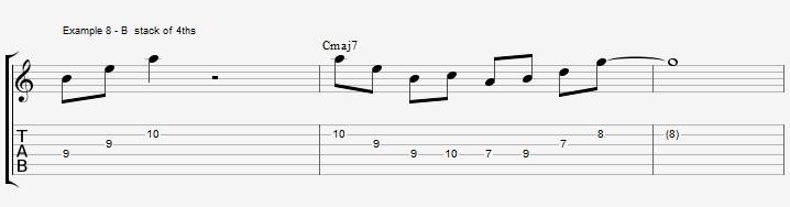 10 arpeggios over a Maj7 chord 1 - ex 8