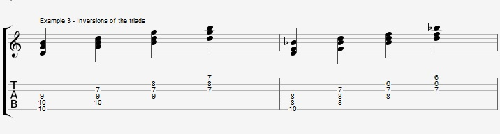 Triads of the Diminished scale - part 1 - ex 3