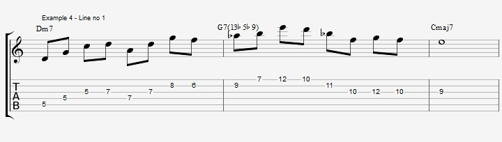 Triads of the Diminished scale - part 1 - ex 4
