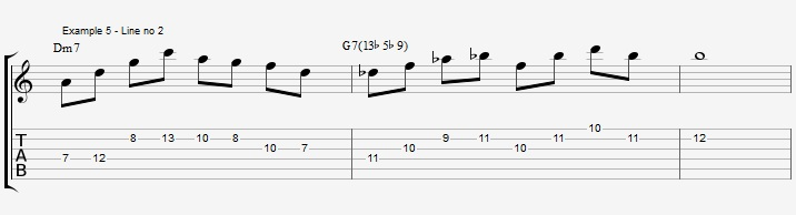 Triads of the Diminished scale - part 1 - ex 5