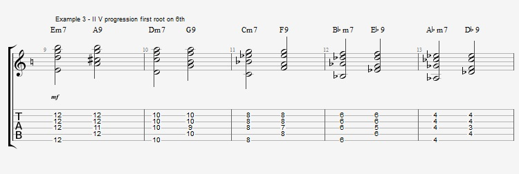 How to play Jazz Chords on Guitar - ex 3