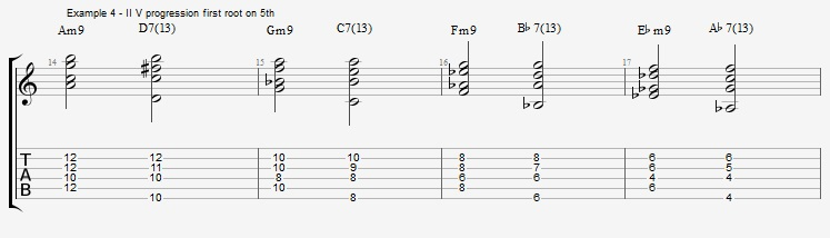 How to play Jazz Chords on Guitar - ex 4