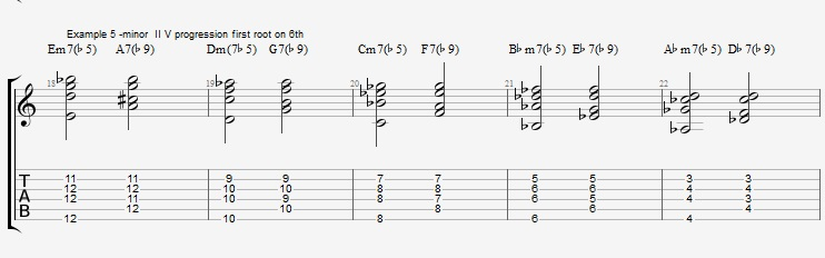 How to play Jazz Chords on Guitar - ex 5