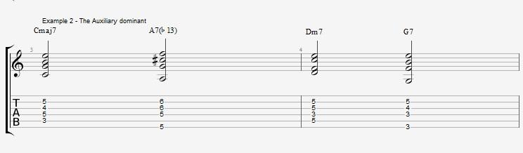 Jazz Chords 10 variations of a I VI II V turnaround - ex 2