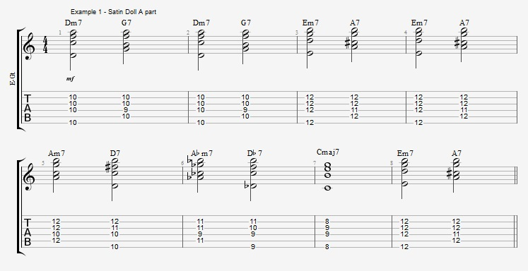 playing-a-jazz-standard-with-pentatonic-scales-satin-doll-ex-1