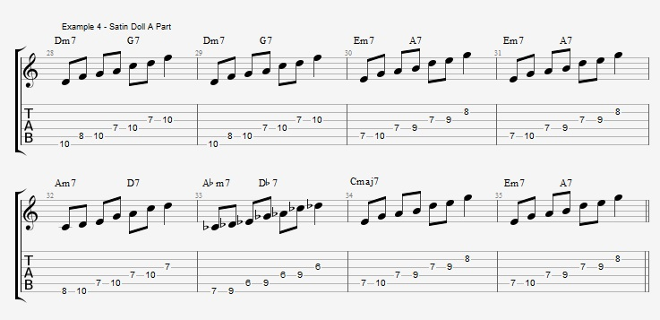 playing-a-jazz-standard-with-pentatonic-scales-satin-doll-ex-4
