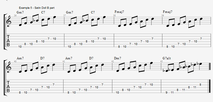 playing-a-jazz-standard-with-pentatonic-scales-satin-doll-ex-5