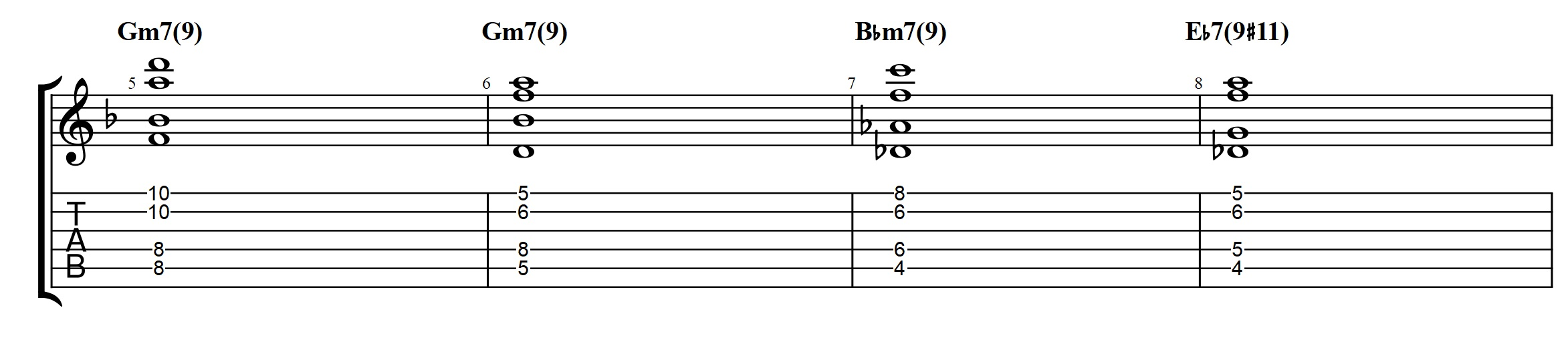 Allan holdsworth chords on a jazz standard advanced modern chord the chord voicings that i am using on the am7 is a stack of 4ths over a low e the voicing is less common because it has the 3rd and 7th high hexwebz Gallery