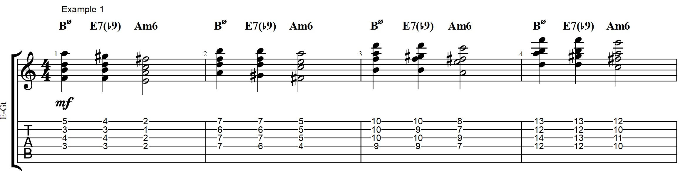 2 5 1 archives jens larsen i have kept the voicings very basic but did opt for using a dim chord for the e7 to have the b9 in the chord hexwebz Choice Image