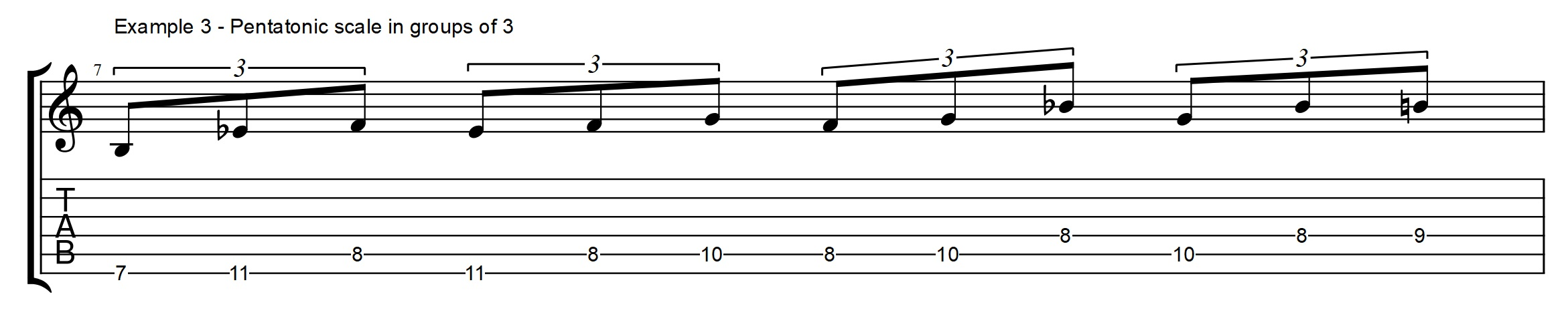 Pentatonic scale for altered chords modern melodic minor secrets the pentatonic scale in groups of 3 notes hexwebz Choice Image