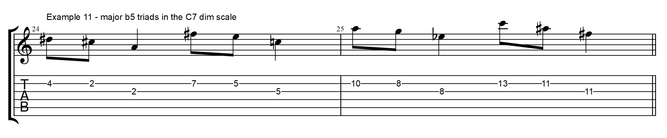 The triad we never talk about but we play it all the time the c7 line is created combining a c and an a major b5 triad and then the last two notes lets it resolve to the fmaj7 chord hexwebz Image collections