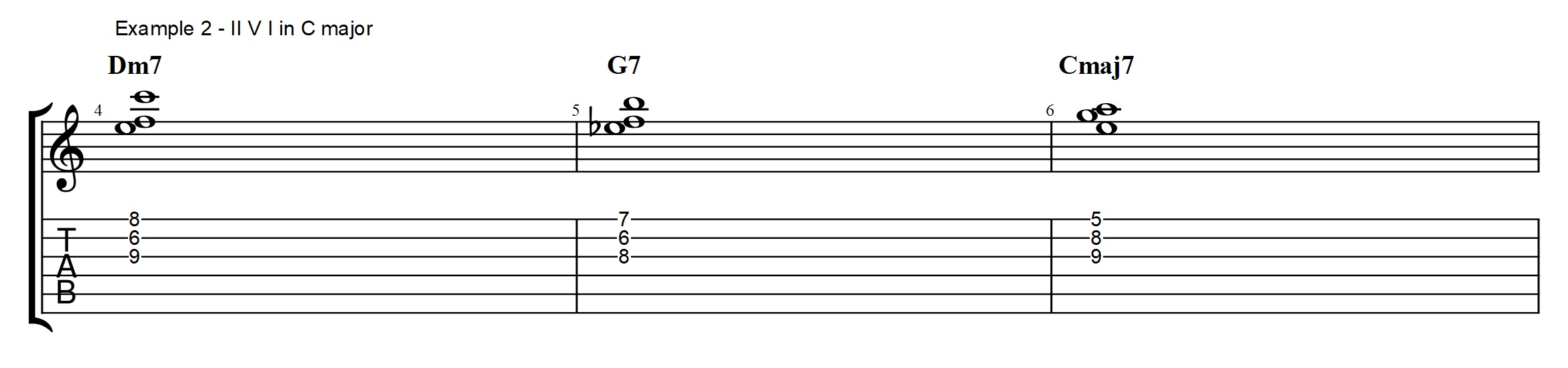 Voicings archives jens larsen previous example i will use the cmaj7 term quite loosely to mean anything that is a c tonic chord in a c major cadence whether it is a c6 or a cmaj7 hexwebz Gallery