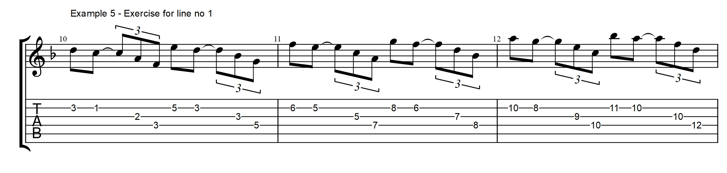 Rhythm archives jens larsen as you can see i am using sweep or economy picking to play the arpeggios on the gm7 if you want to practice this you can use the exercise shown here below hexwebz Gallery