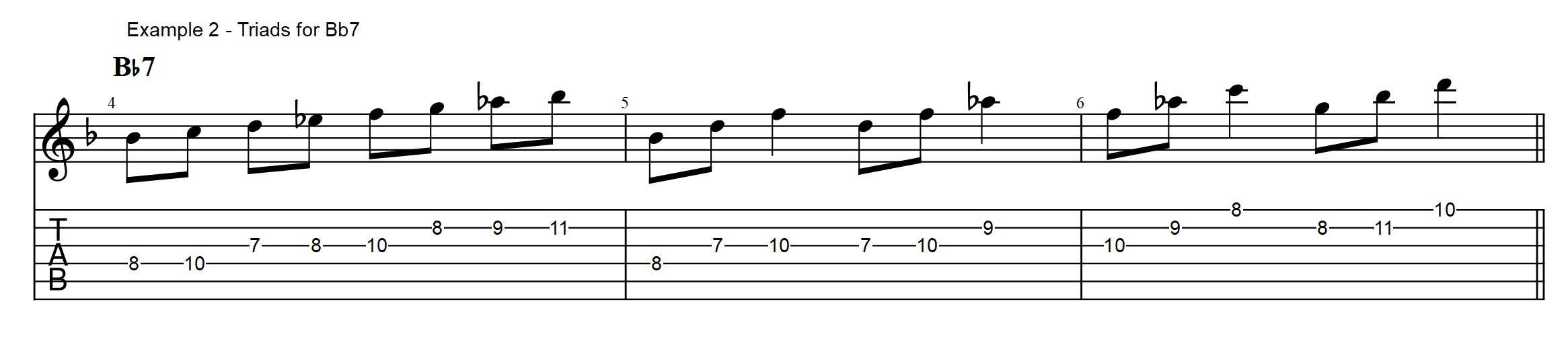 Guitar Solo With Only Triads Jazz Blues Jens Larsen