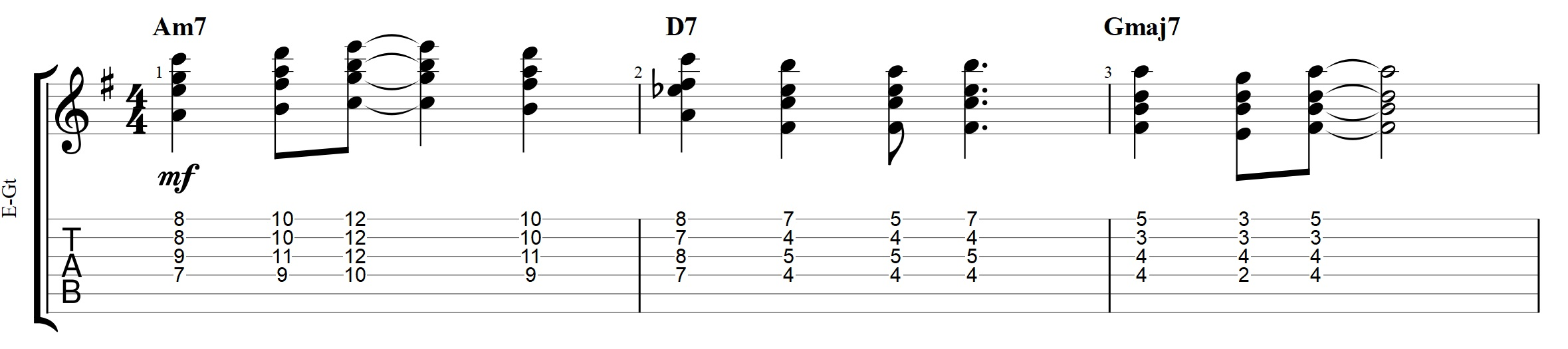 Jazz chords archives jens larsen in this example the bm7 chord is used to harmonize the d and it voice leads nicely up to the following am79 voicing that harmonizes the e buycottarizona Image collections