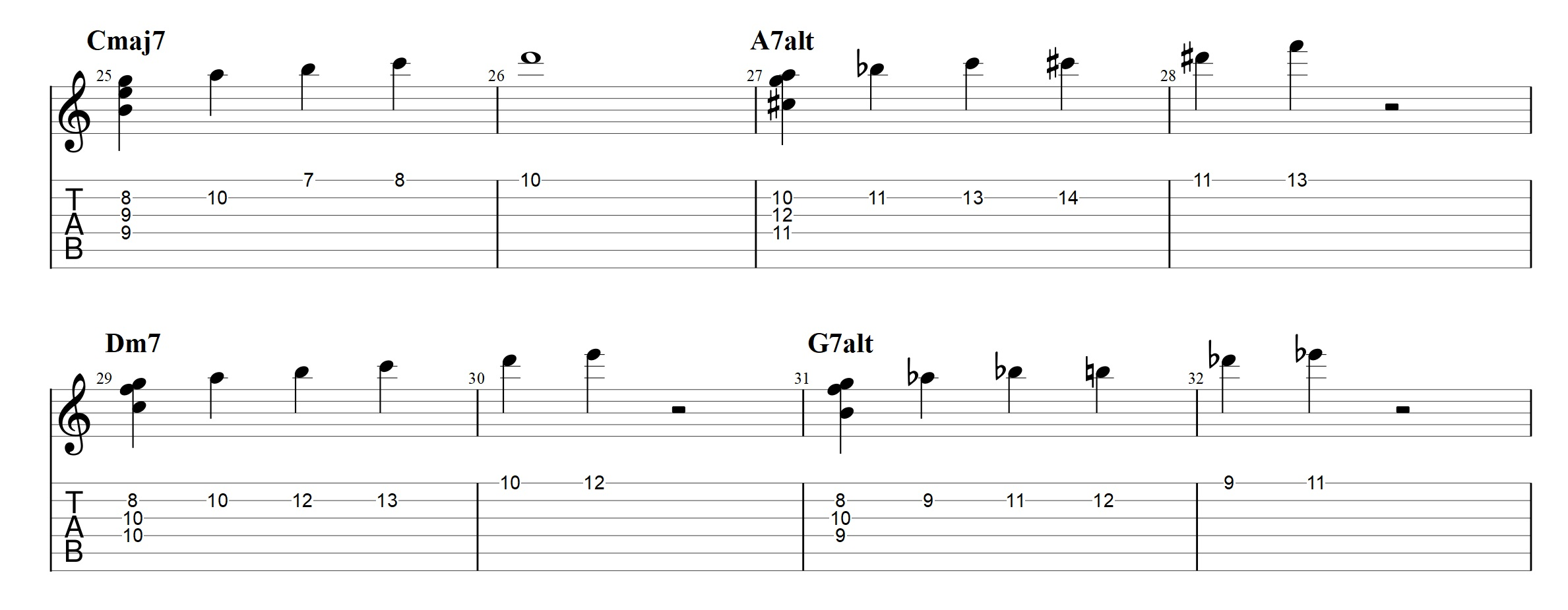 Chord voicings archives jens larsen and this could be turned into this example hexwebz Choice Image