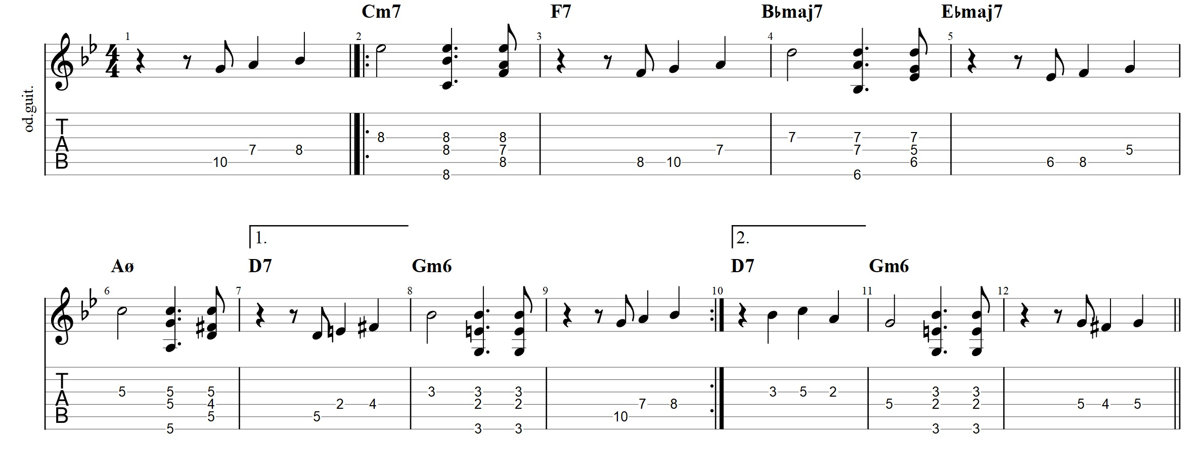 Autumn Leaves Guitar Tab Archives Jens Larsen
