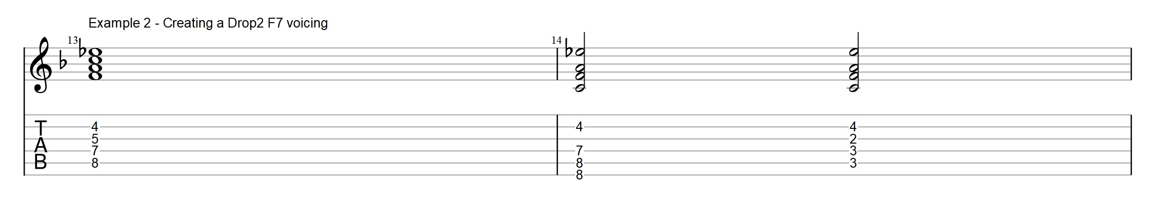 Constructing Drop 2 voicings