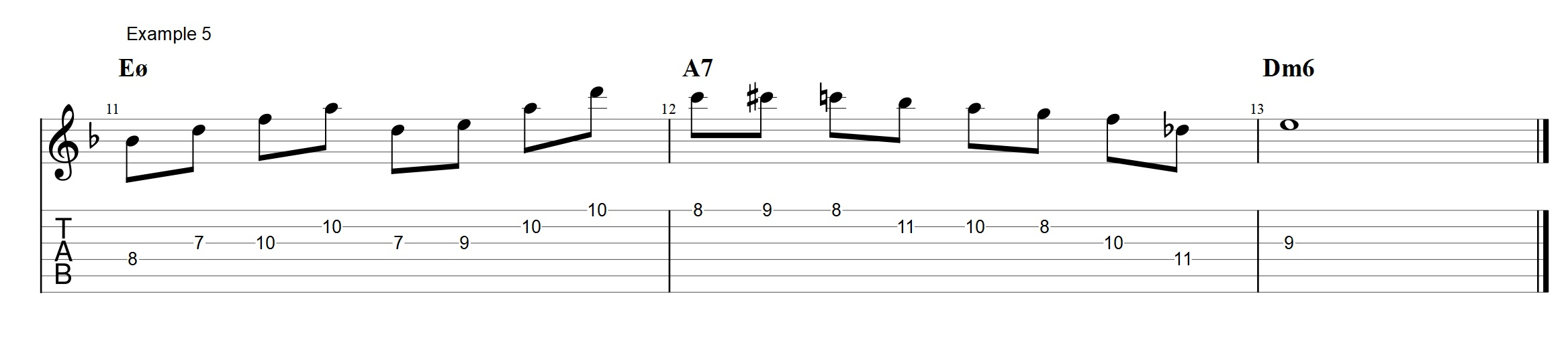 Half Diminished Chords This Is How To Use Quartal Arpeggios Jens A7 Chord Diagram Dilemmas