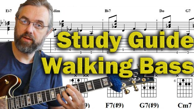 How To Play Walking Bass and Chords on Guitar - Study Guide - Jens