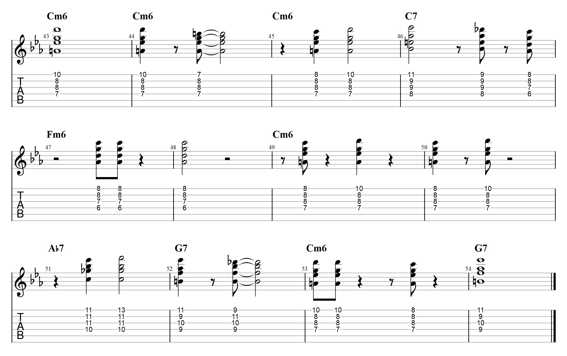 Minor Blues Comping - How To Use Drop2 Chords - Jens Larsen