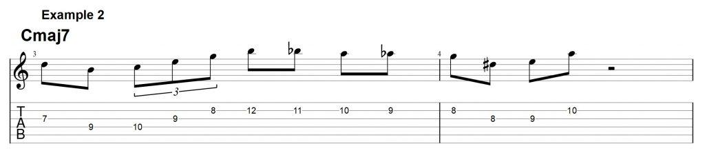 Jazz Licks on a Maj7 chord - How To Sound Like Bebop - Jens