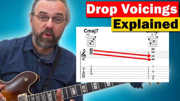 drop 2 chords jazz guitar Archives - Jens Larsen