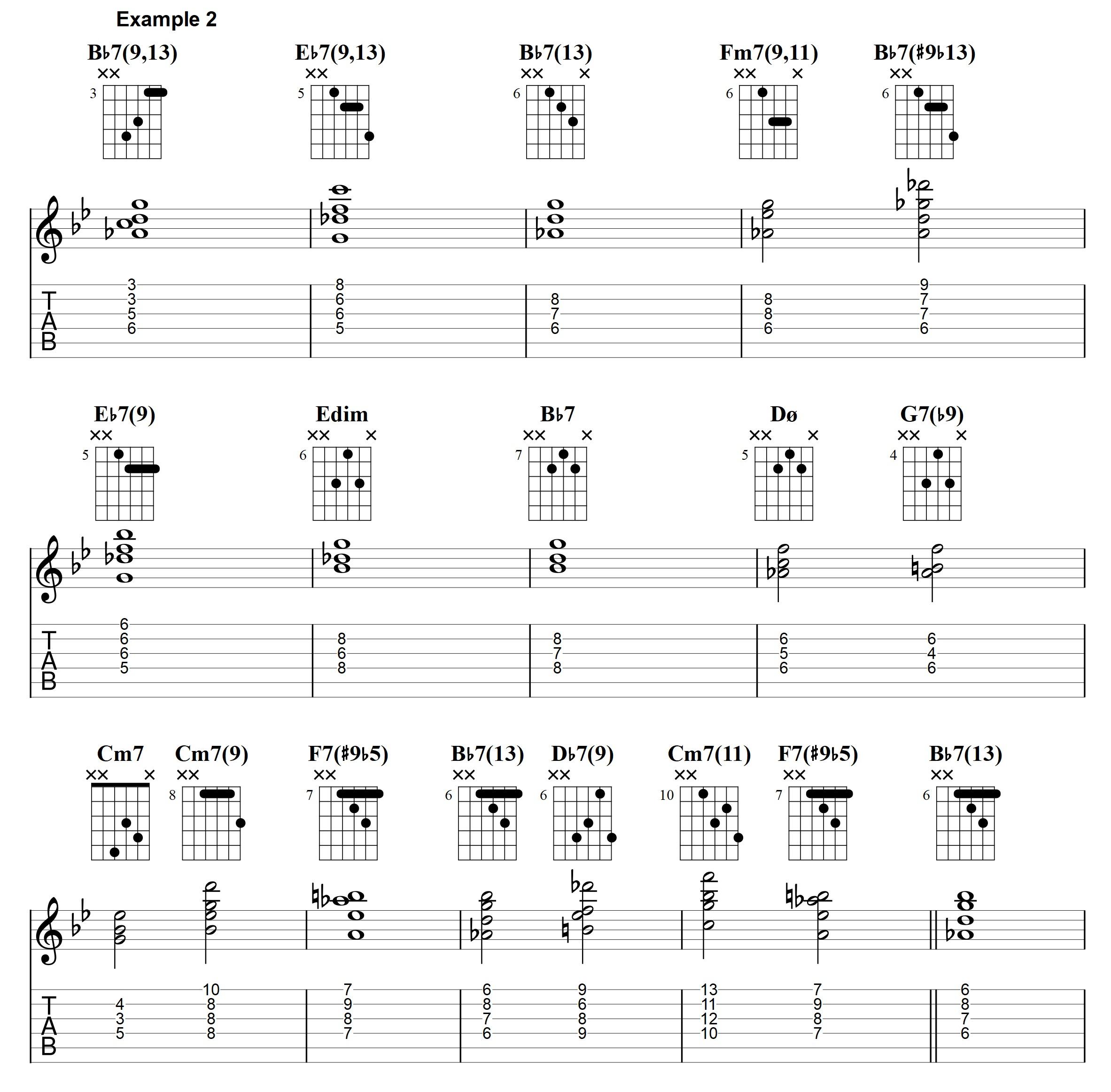 jazz blues chords   Jens Larsen